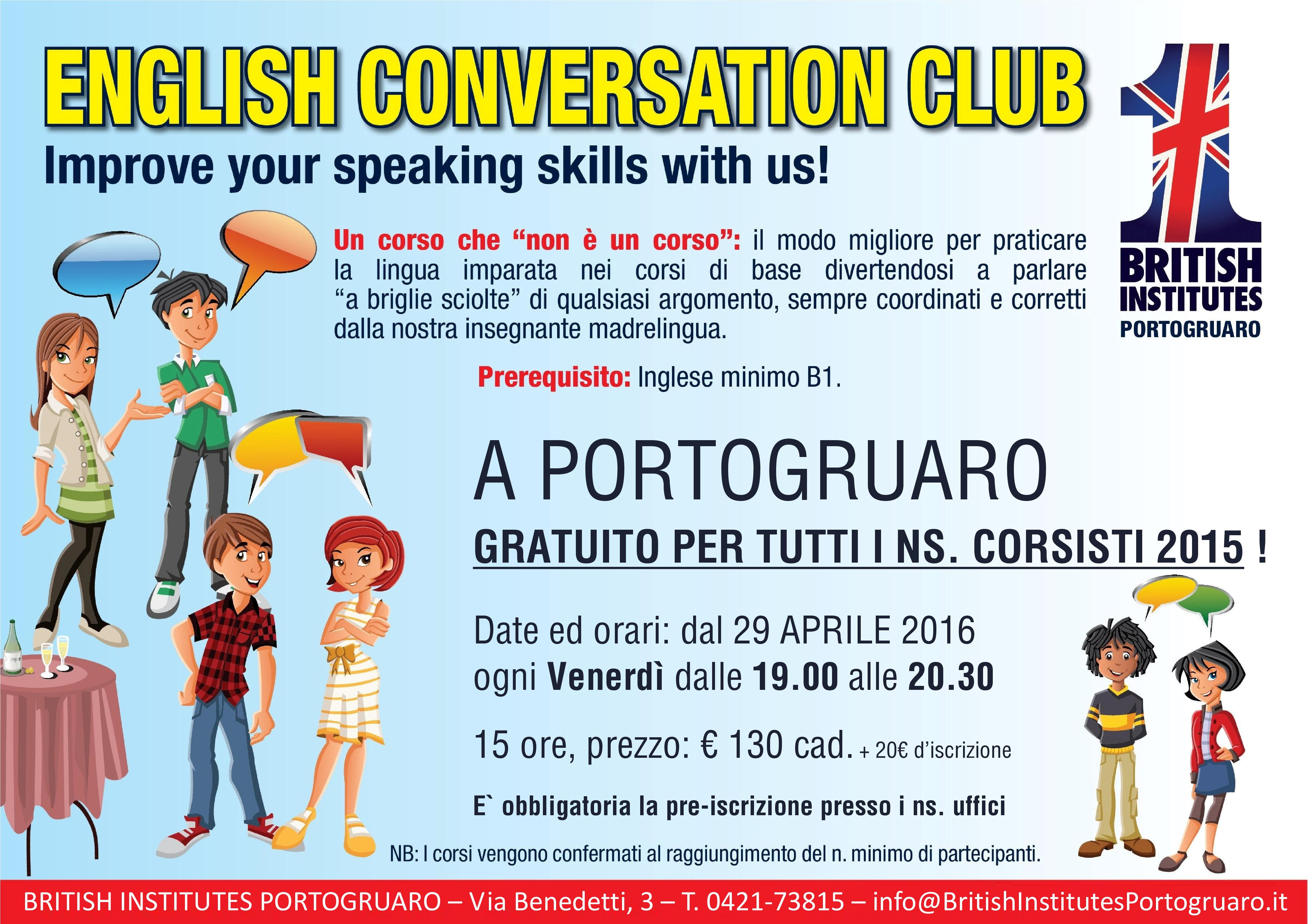 Locandina English Conversation Club